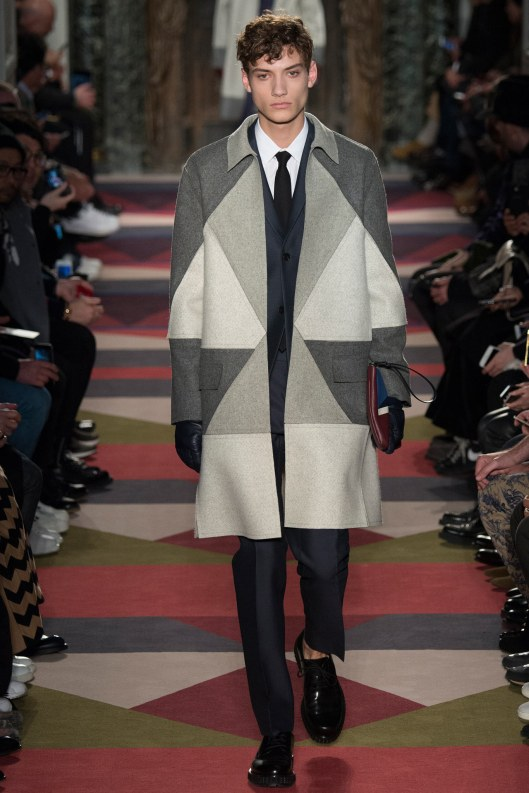 menswear, outerwear, a15, grey chromatic colour geometrics, valentino