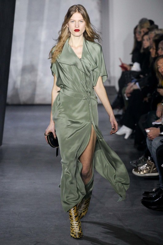 phillip lim, a15, military green, dress, flowing MARC0842