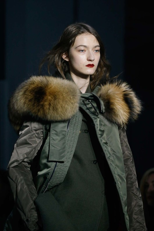 phillip lim, a15, military green, jacket, fur trimmed hood, _A2X0891