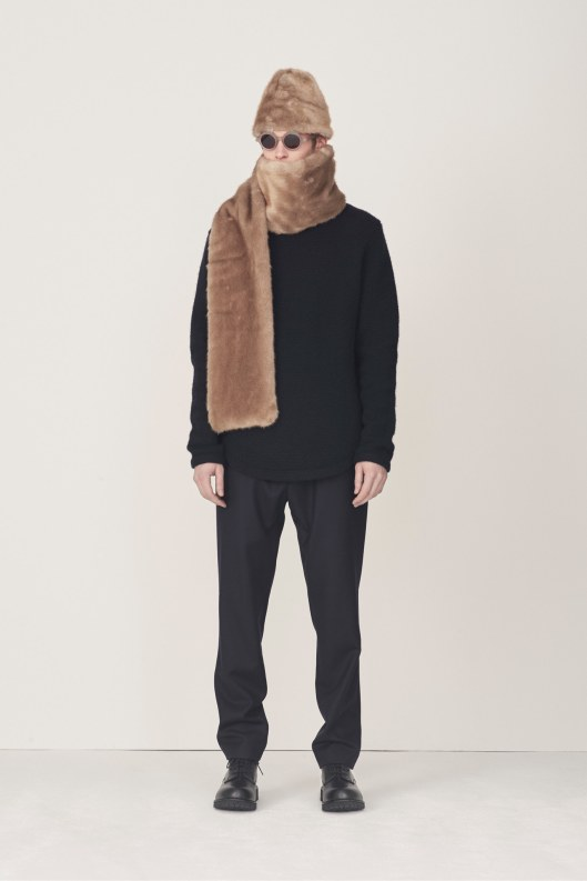 Steven_Alan, menswear, a15, hat_scarf faux fur set,
