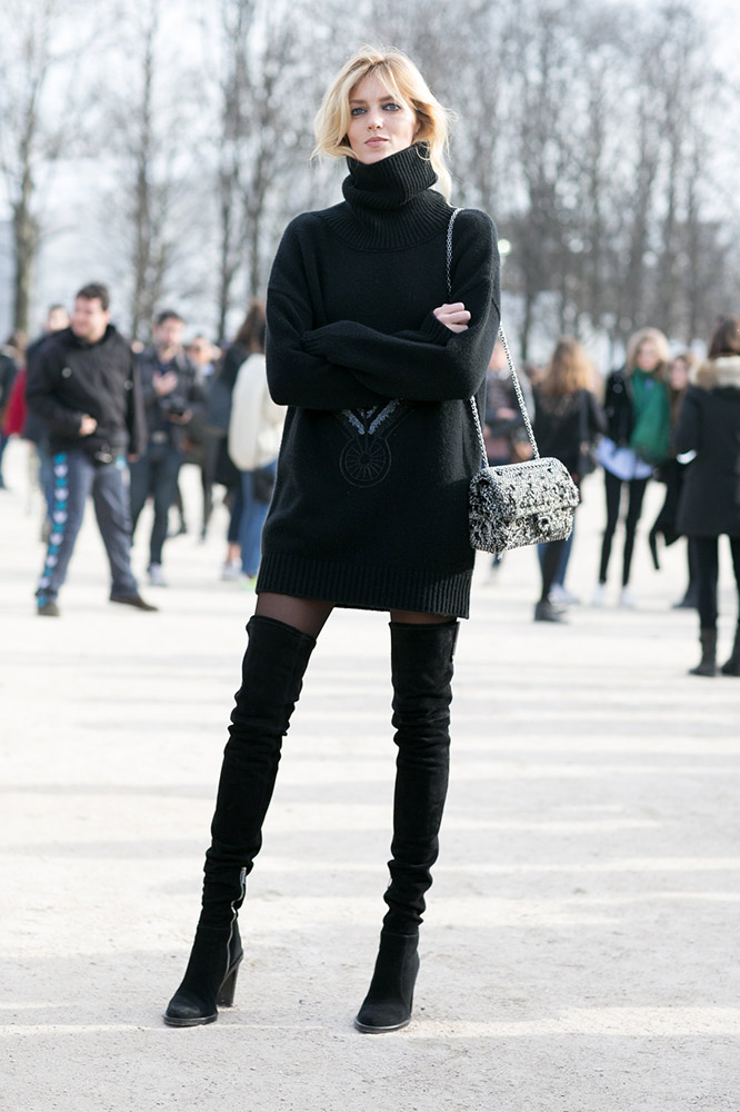fashionspeak, lampshading, over knee boot, single loose fit top, thefashionspot.com p