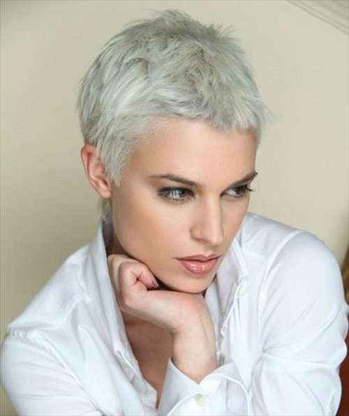 Hair Fashion Short Pixie White Hairstyle Pics Com Pixie Cuts For