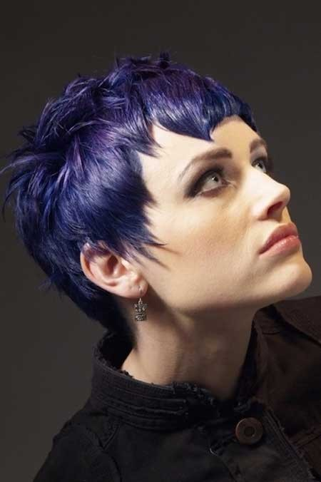 hair fashion, short, purple, unusual-hairstyles.com bold-pixie-haircut-with-asymmetrical-bangs