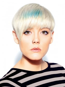 hair fashion, short, splash of colour, hairstyle-fashion.com 2012-Short-blonde-hairstyle-252x336