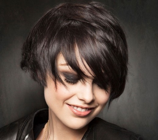 hair fashion, short, to ear, youne.co Dark-Short-Hairstyle-hairstyles-scriptoor-com