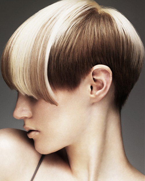 hair fashion, short, two tone, therighthairstyles.com 23-creative-coloristic-solution