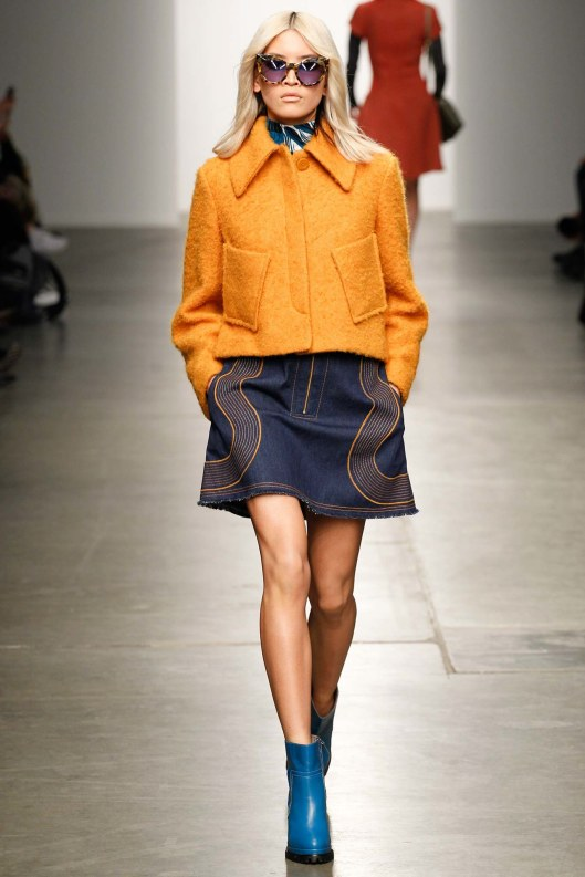 karen walker, fall 2015, cropped jacket