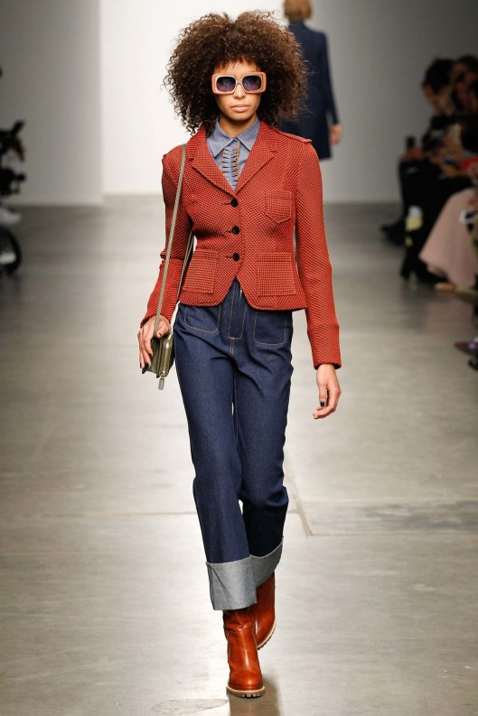 karen walker, fall 2015, rolled hem