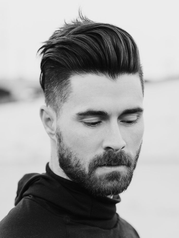 men hair fashion comb back and lift