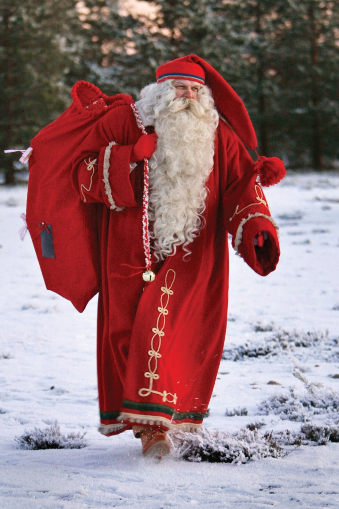 santa claus, traditional finnish costume. kids.britannica.com