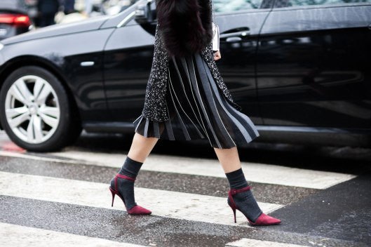sock fashion, use, greys, red stap heel shoes, vogue.com holding-socks-for-different-occasions