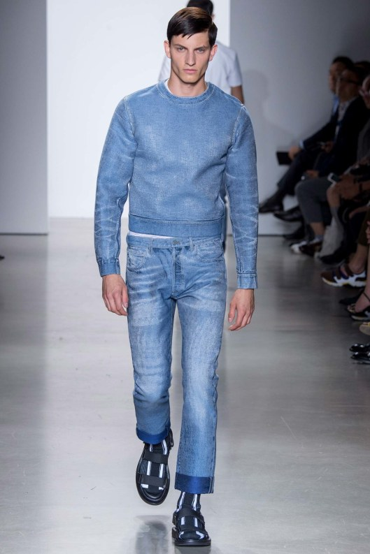 denim on denim, calvin klein, s 16, voguecom
