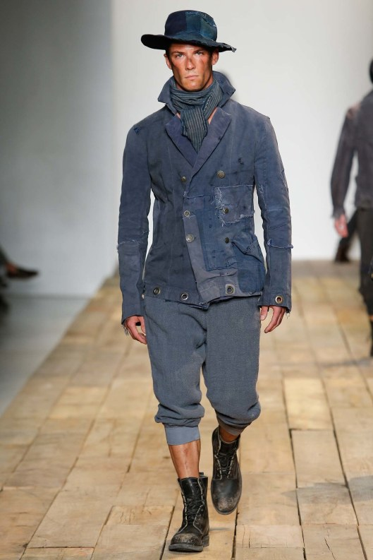 denim on denim, men, rivet jacket_hat, jogger, s16, greg lauren, voguecom
