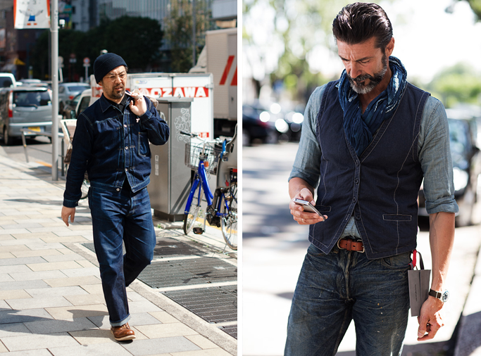 denim on denim, men, tokyofashionguide.com mens-double-denim-street-style