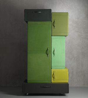 furniteture, pile of suitcases, marten deceulaercom