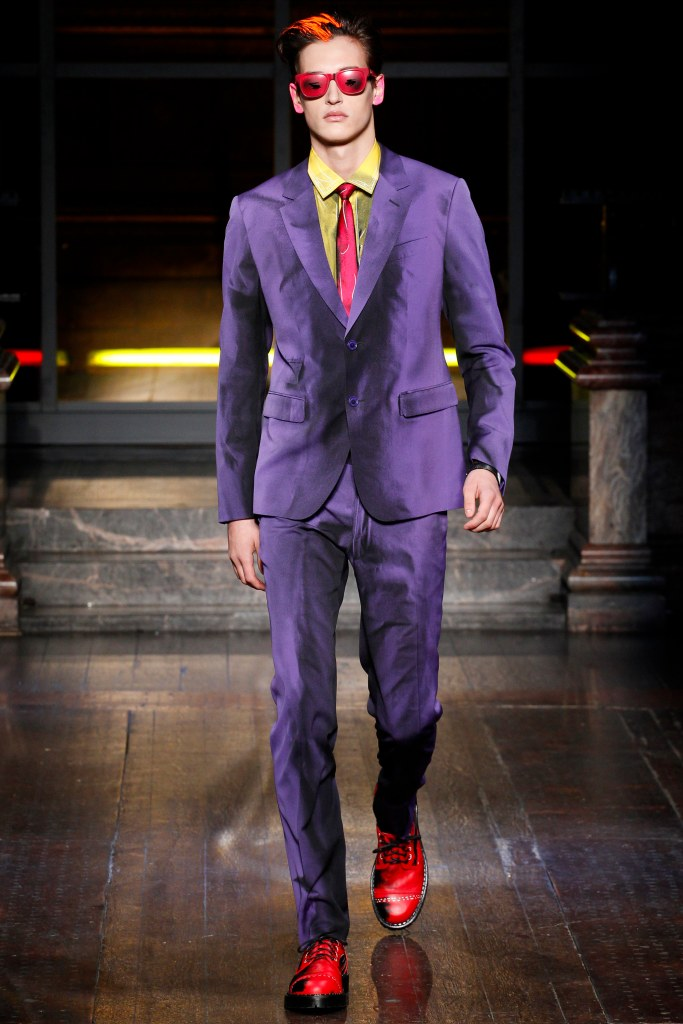 LCM, a16, moschino, marvel comic character, channeling the joker, vogue_