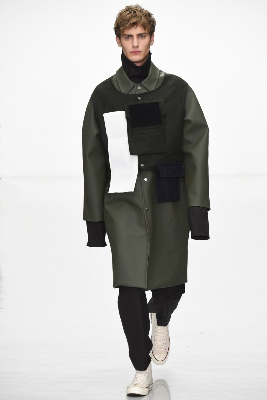 LCM, overcoat, green W_  colour block, agi and sam, voguecom