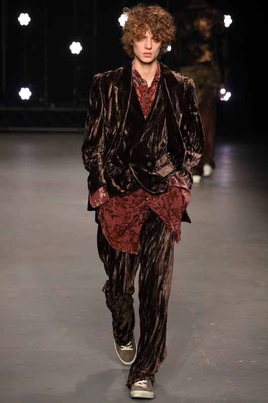 LCM, topman design, a16, crushed velvet suiting, chocolate brown, voguecom