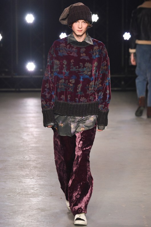 LCM, topman design, mixed fabrication, crushed velvet, voguecom