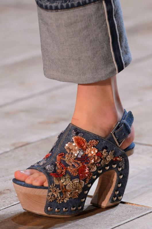 shoe spotlight, 2016, alexander mcqueen, embellsihed clogs, vogue