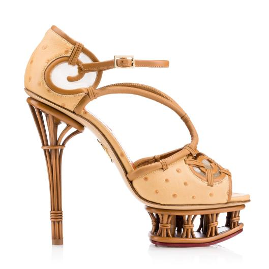 shoe spotlight, charlotte olympia, s16, inspired by the tropics rattan , fashionistacom