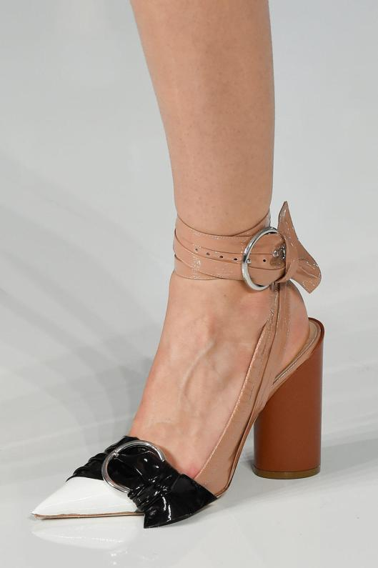 shoe spotlight, dior, buckle detail, colour block effect, vogue,