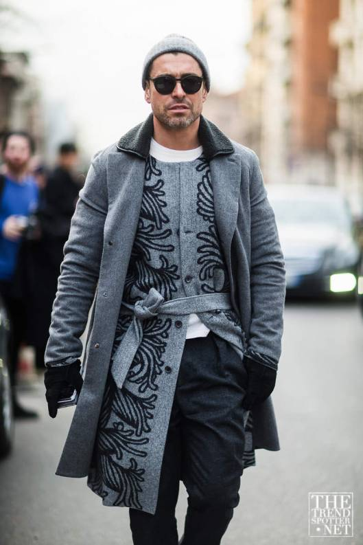 colour commit, men, grey_graphic, thetrendspotter, Street-Style-Milan-Autumn-Winter-2016