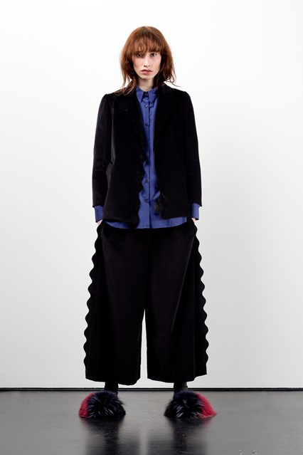 lfw, a16, Margo, trouser wave effect seams,