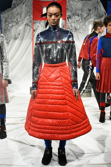 lfw, f 16, sadie williams, a-line puffer skirt, vogue uk