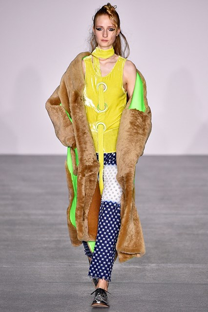 lfw, f16, fyodor golan, faux fur, bright colours, mix fab, vogue uk