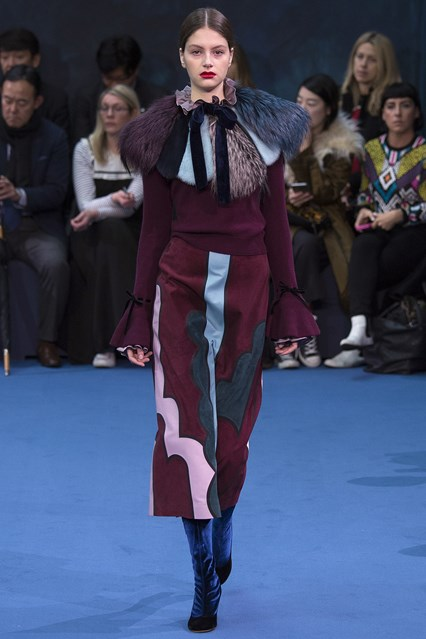 lfw, f16, roksanda, purples, faux fur, mixed fabrication, graphic vogue_
