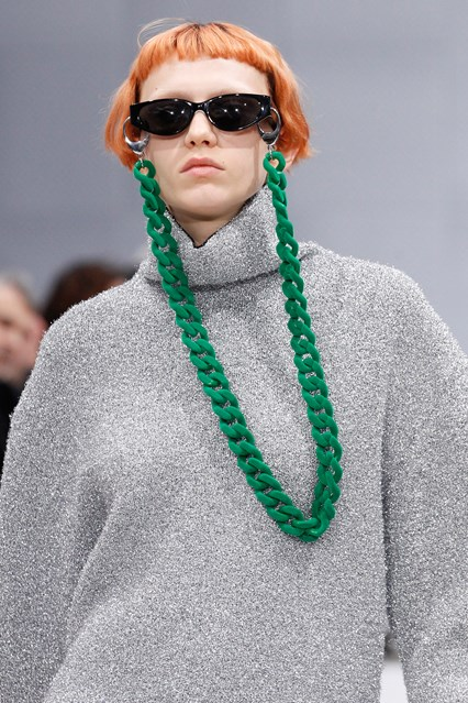 ccessories, how to, eyewear chain, green, large link, balenciaga, vogue