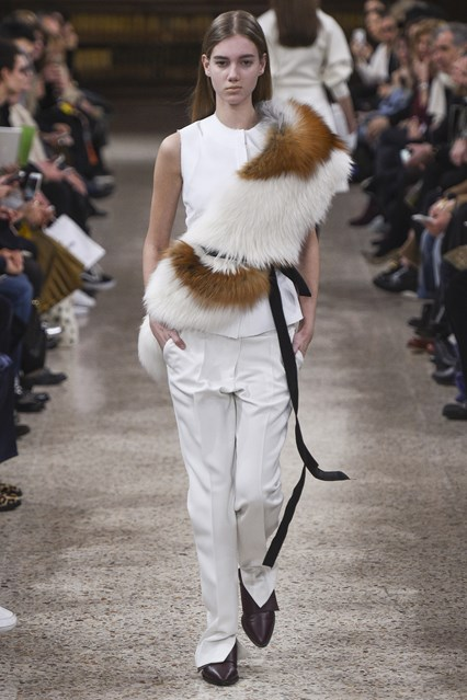 accessories, how to, faux fur one shoulder  throw_ribbon tie, gabriele colangelo,