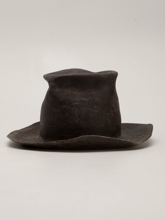 horisaki hats, distressed top hat, lyst.com -design-handel-brown-distressed-top-hat-product-