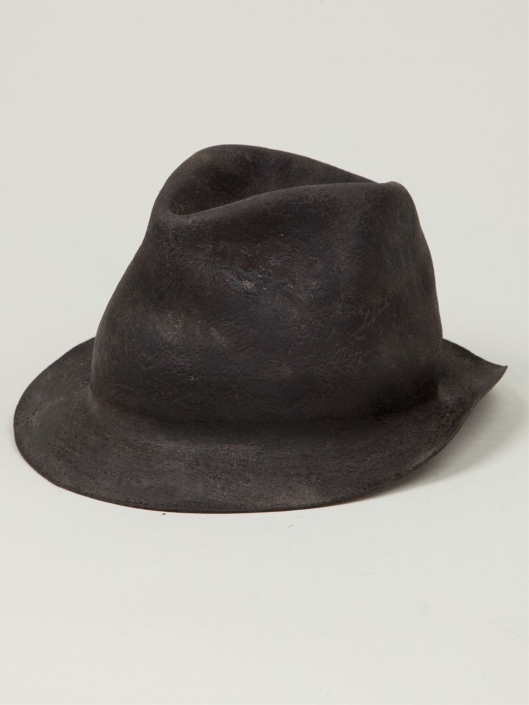 horisaki-hats, furry felt, lyst.com design-handel-gray-furry-felt-hat-product