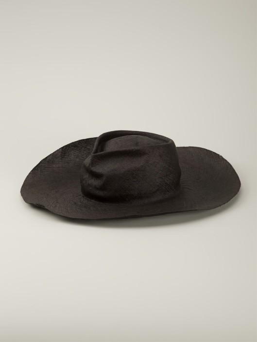 horisaki-hats, wide brim black, lyst,co.uk design-handel-black-wide-brim