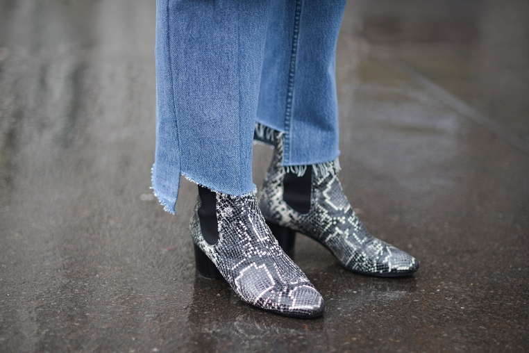 vetements jeans/loewe ankle boots