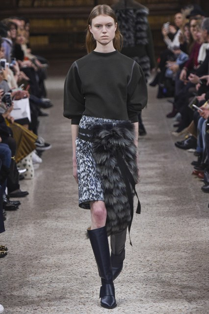 mfw, f16, faux fur, skirt wrap, gabriele colangelo, vogue