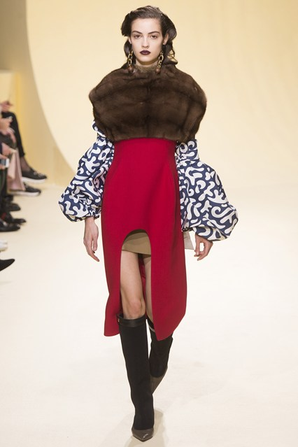mfw, f16, layering fur on top, cutout dress, marni