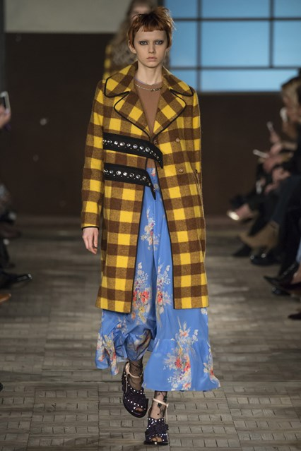 mfw, f16, plaid coat No.21, vogue