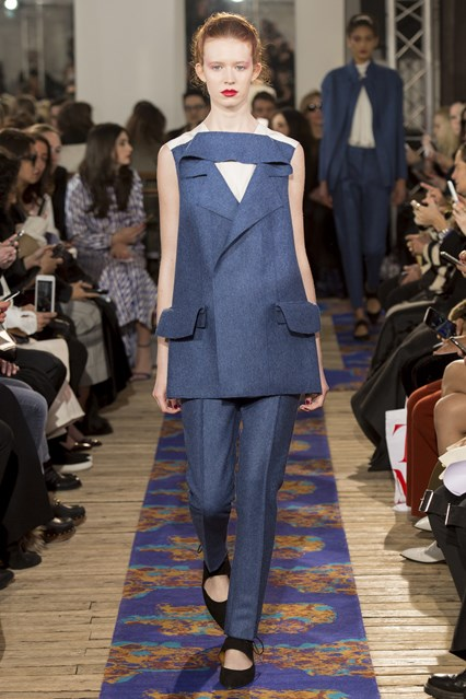pfw, a16, avant garde, trouser suiting, new collar detail, maison rabih Kayrouz, vogue