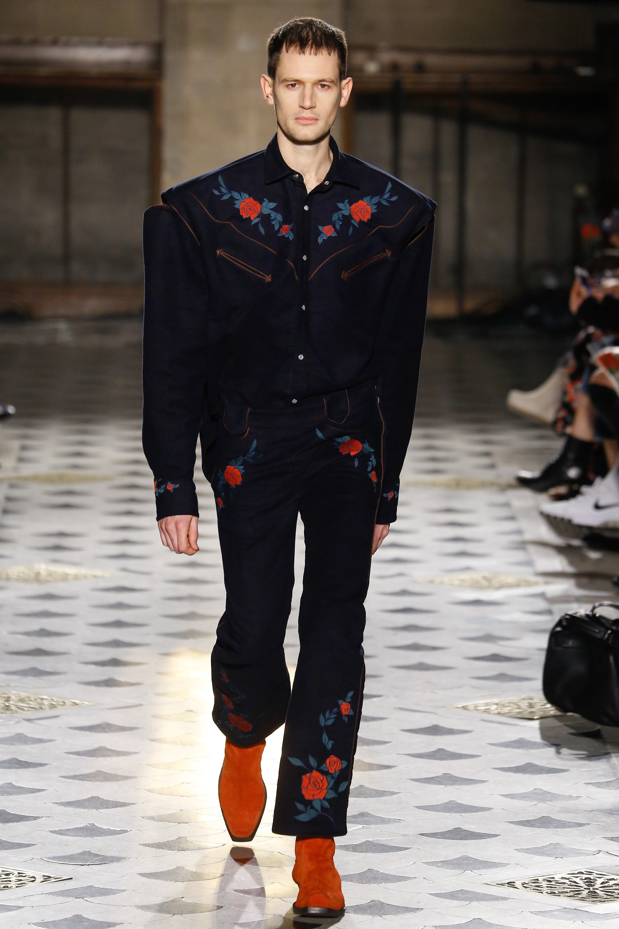 Vetements A16 Men Oversized Denim Suit Flora Vogue